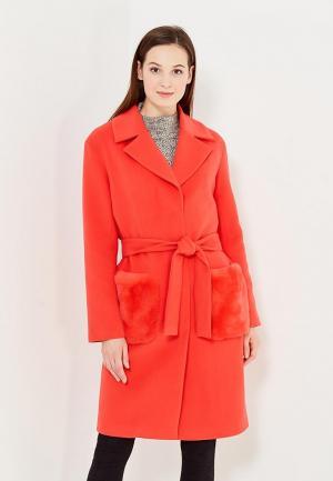 Пальто Grand Style. Цвет: коралловый
