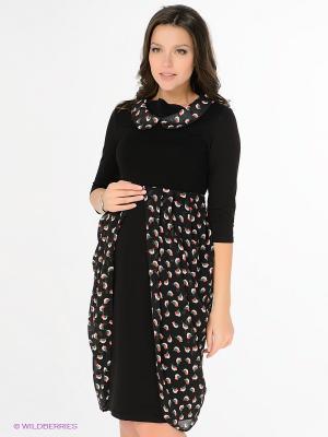 Платье Nuova Vita. Цвет: черный, зеленый, розовый, белый