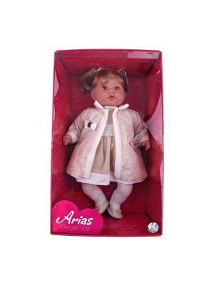 Кукла Arias  в бежевом пальто, 50 см Arias.. Цвет: бежевый