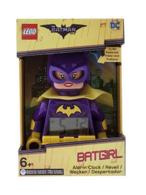 Часы настольные Batman Movie (Лего Фильм: Бэтмен) минифигура Batgirl Lego.. Цвет: темно-фиолетовый, желтый