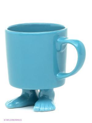Кружка на ножках Efeet Collection. Цвет: голубой