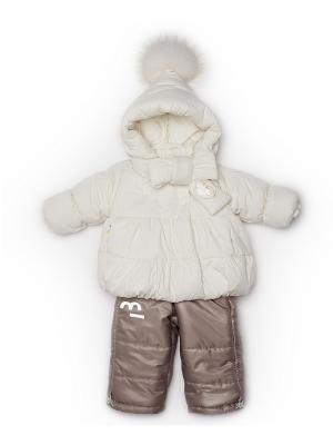 Куртка, полукомбинезон MaLeK BaBy. Цвет: молочный