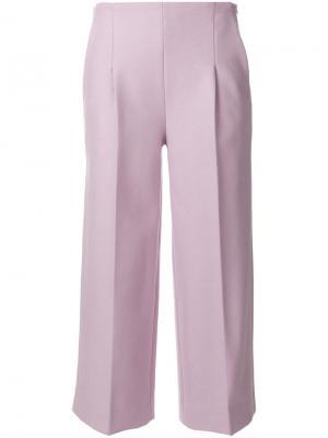 Укороченные широкие брюки Chalayan. Цвет: розовый и фиолетовый