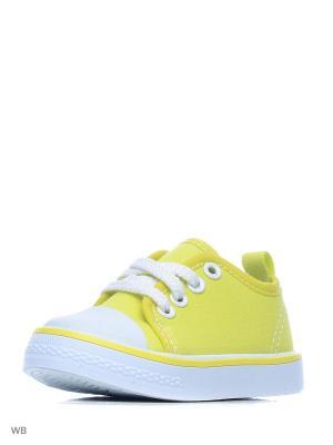 Кеды PlayToday. Цвет: желтый, белый