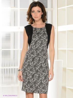 Платье QUIOSQUE. Цвет: серый, черный