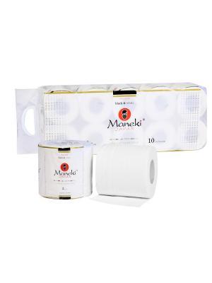 Бумага туалетная  B&W, 3 слоя, 30 м, с ароматом иланг-иланг, 10 рул/упак Maneki. Цвет: белый