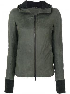 Куртка кроя слим с капюшоном Giorgio Brato. Цвет: зелёный