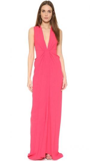 Вечернее платье с глубоким вырезом Thakoon. Цвет: розовый