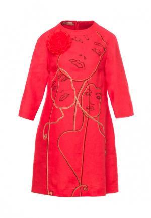 Платье Yukostyle. Цвет: красный