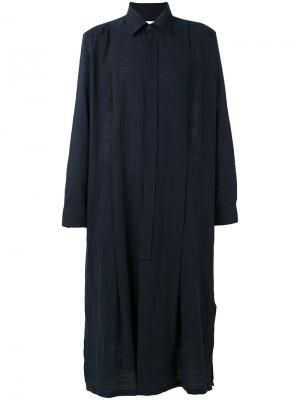 Длинная рубашка Études. Цвет: синий