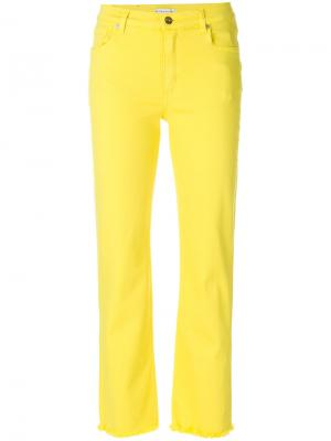 Укороченные джинсы Etro. Цвет: жёлтый и оранжевый