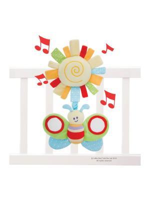 Развивающая музыкальная игрушка гусеница Little Bird Told Me. Цвет: зеленый