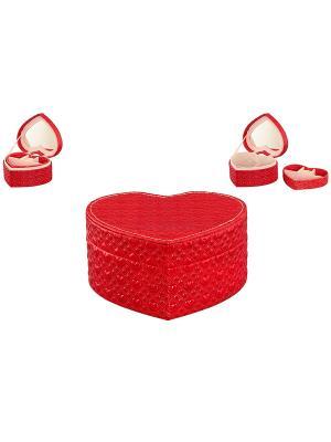 Шкатулка Сердечко красное с сердечками Elan Gallery. Цвет: красный