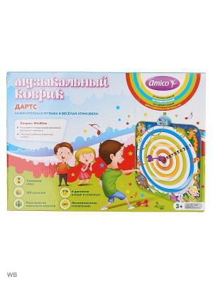 Музыкальная игрушка Дартс, Музыкальные коврики Amico. Цвет: синий