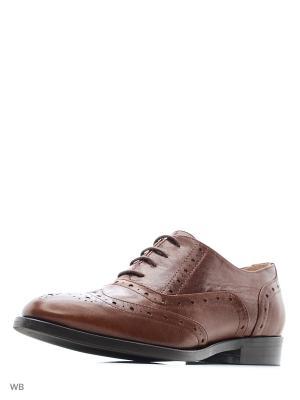 Туфли кожа Capra рыжая (cuoio) GIOTTO. Цвет: рыжий