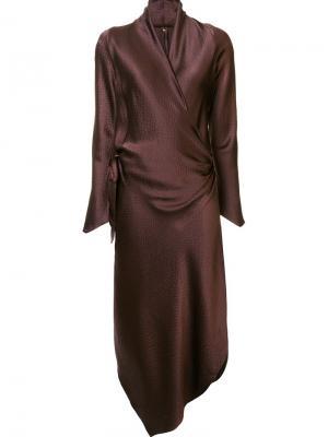 Платье Victor Peter Cohen. Цвет: коричневый