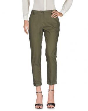 Повседневные брюки PAOLO CASALINI. Цвет: зеленый-милитари
