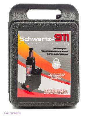 Гидравлический бутылочный домкрат SCHWARTZ-911 2 т (180-345 мм). Цвет: черный