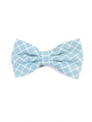 Галстук-бабочка Churchill accessories. Цвет: темно-синий, синий, голубой, светло-голубой, белый