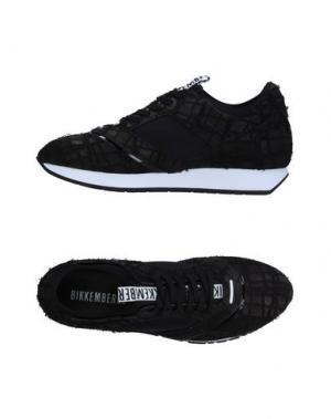 Низкие кеды и кроссовки BIKKEMBERGS. Цвет: черный