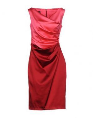 Короткое платье TALBOT RUNHOF. Цвет: кирпично-красный