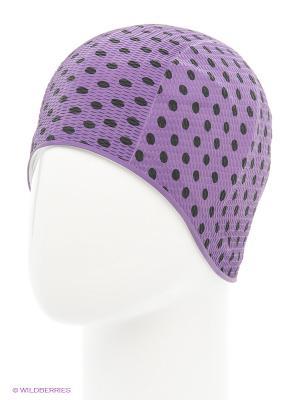 Шапочка для плавания Print Bubble Mad Wave. Цвет: фиолетовый, черный