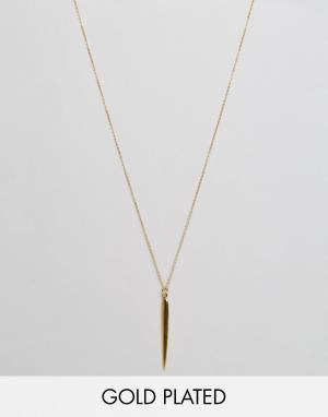 Ottoman Hands Ожерелье с подвеской‑стрелой. Цвет: золотой