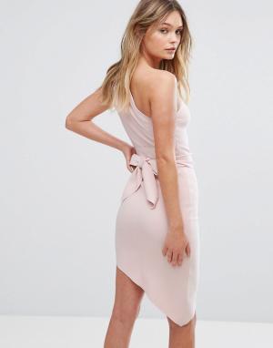 Bec & Bridge Асимметричное платье Mystify. Цвет: розовый