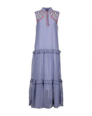 Длинное платье SPACE STYLE CONCEPT. Цвет: синий