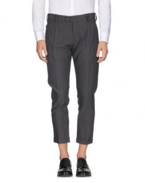 Повседневные брюки MESSAGERIE. Цвет: свинцово-серый