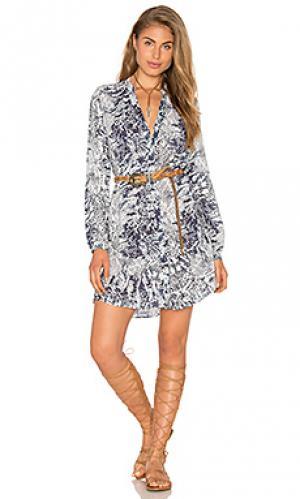 Платье steph Vix Swimwear. Цвет: синий