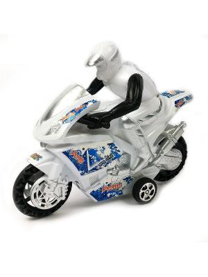 Мотоциклист Азбука Тойс. Цвет: белый