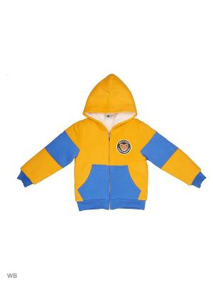Куртка Sago Kids i Ant Domain. Цвет: желтый, синий