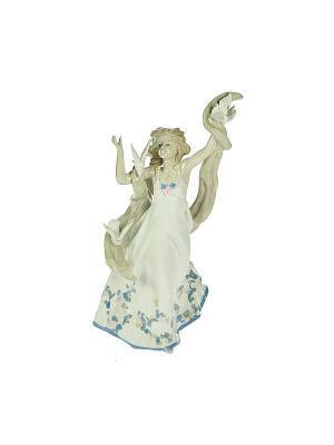 Статуэтка Нимфа Русские подарки. Цвет: кремовый, белый