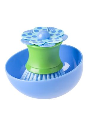 Щетка для посуды VIGAR. Цвет: зеленый, голубой