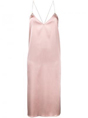 Платье-комбинация с открытой спиной Cityshop. Цвет: розовый и фиолетовый