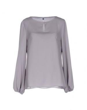 Блузка GAZEL. Цвет: светло-серый