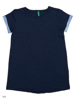 Футболка United Colors of Benetton. Цвет: синий, черный
