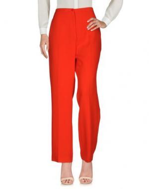Повседневные брюки PURIFICACION GARCIA. Цвет: красный