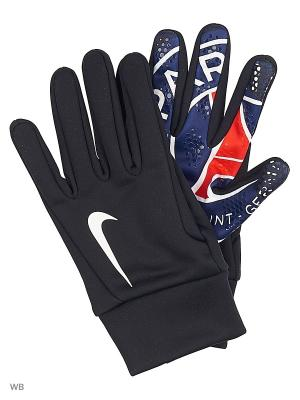 Перчатки PSG HYPERWARM GLOVE Nike. Цвет: черный, белый