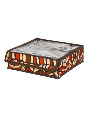 Органайзер для хранения Африка EL CASA. Цвет: коричневый, желтый, красный