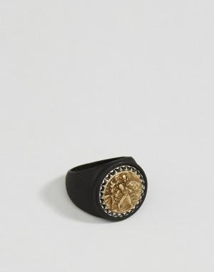 Icon Brand Черное массивное кольцо. Цвет: черный
