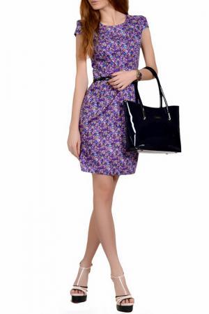 Повседневное платье с принтом FRANCESCA LUCINI. Цвет: фиолетовый, маргаритка