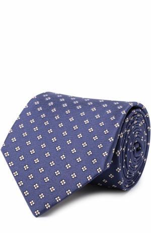 Шелковый галстук с узором Churchs Church's. Цвет: кремовый