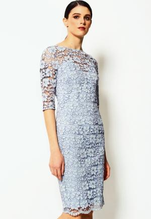 Платье LO. Цвет: голубой