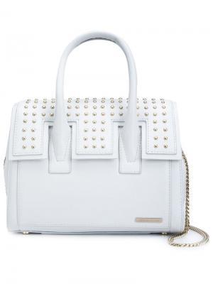 Маленькая сумка-тоут с заклепками Thomas Wylde. Цвет: белый