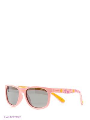 Солнцезащитные очки Polaroid. Цвет: розовый, бежевый
