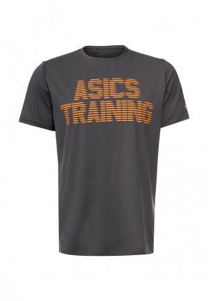 Футболка спортивная ASICS. Цвет: серый