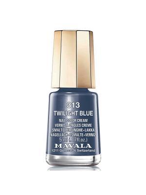 Лак для ногтей тон 313 Twiligt Blue Mavala. Цвет: темно-синий