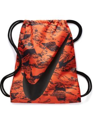Мешок для обуви YA GRAPHIC GYMSACK Nike. Цвет: оранжевый, антрацитовый